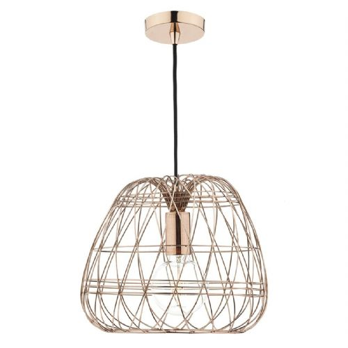 Woven 1 Light Pendant Copper (Class 2 Double Insulated) BXWOV0164-17